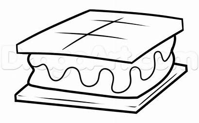 Smores Drawing Step Mores Drawings Easy Line