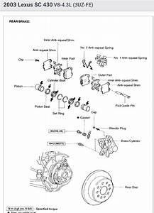 Lexus Sc 430 Rear Brakes Parts Diagram
