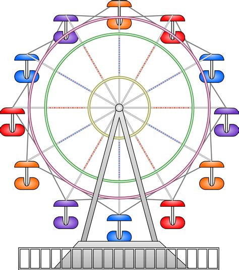 Ferris Wheel Clip Ferris Wheel Px Free Images At Clker Vector Clip