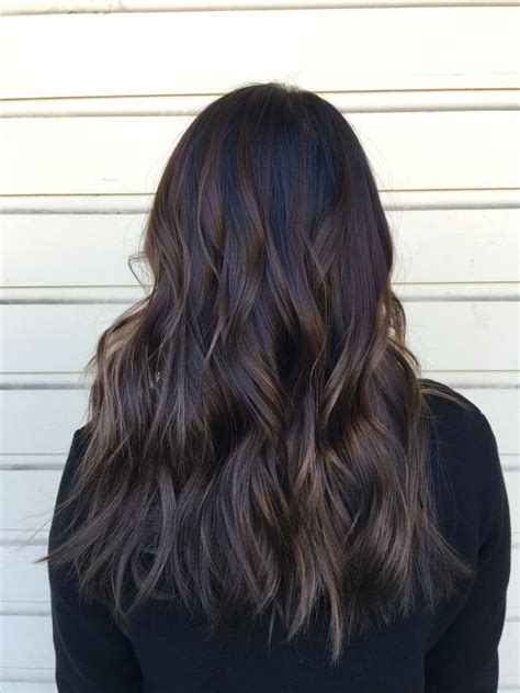Best 25 Dark Brunette Balayage Ideas On Pinterest