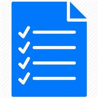 Icon Checklist Document Transparent Documents Text Paper
