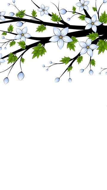 blue flowers branch  backgrounds  powerpoint