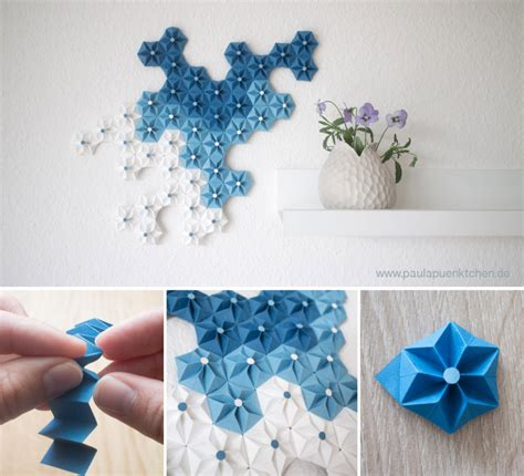 #paperwallhanging#paperflower#walldecor a beautiful decoration for your home. Beautiful DIY Origami Flowers To Decorate Your Wall : Wall ...