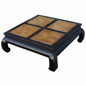 two tone burl wood ming style square coffee table by With two tone square coffee table