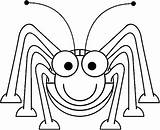 Coloring Pages Insect Bug Cartoon Ant Grasshopper Sheet Cute Clipart Printable Insects Printables Spider Lady Tiny Drawing Clipartpanda Clipartbest Animals sketch template
