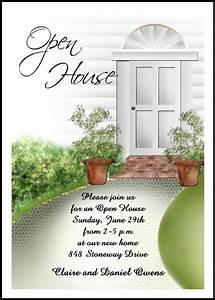 Open House Party Invitation Wording