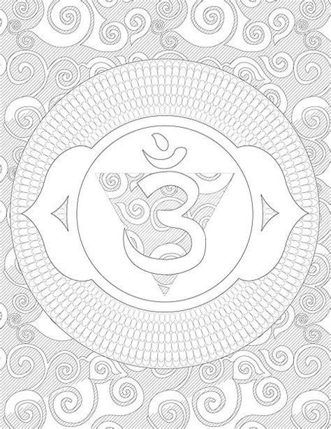Third Eye Chakra Coloring Page | chakras | Pinterest