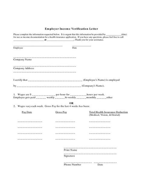 employee verification letter proof of employment letter employer income verification 7974