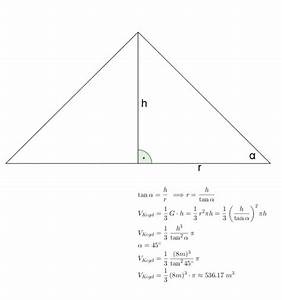 Volumen Eines Kreises Berechnen : volumen eines geraden kreiskegels berechnen kenne h he und neigungswinkel mathelounge ~ Themetempest.com Abrechnung