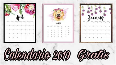 Calendario/agenda 2019 Para Imprimir Gratis [5 DiseÑos
