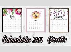 CALENDARIOAGENDA 2019 PARA IMPRIMIR GRATIS [5 DISEÑOS