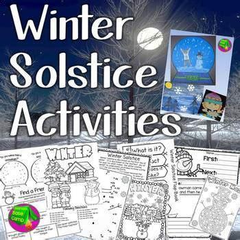 winter solstice activities  classroom base camp tpt