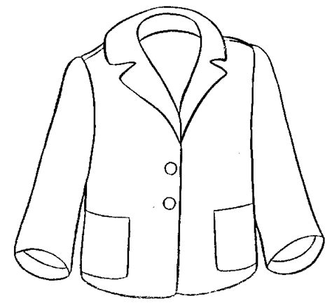 winter coat clipart black and white clothing coloring pages