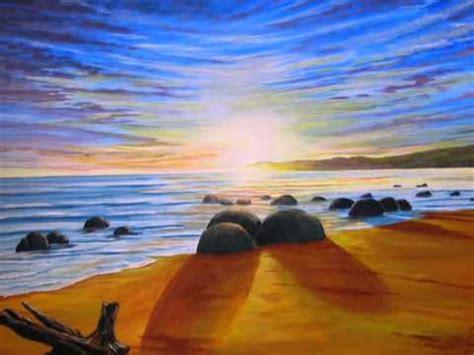 peinture sur toile debutant mes couchers de soleil olivier lemennicier artiste peintre sur toile peinture acrylique