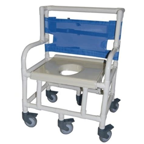 Pvc Commode Chair by Bariatric Pvc Shower And Commode Chair Is 26 Quot Wide Heavy
