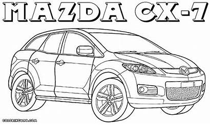 Mazda Coloring Pages Rx Template Colorings Coloringway
