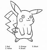 Pokemon Coloring Printable Pages Number Beginners Sheets Pikachu Activities Advanced Fans sketch template