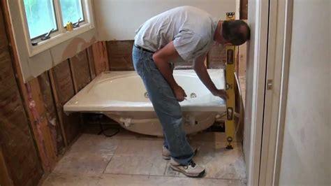 installing a whirlpool jet tub part 1