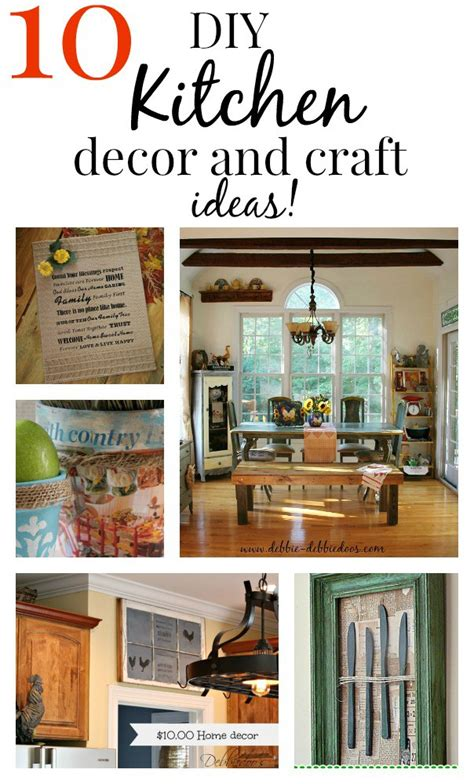 diy kitchen decor ideas 10 easy diy kitchen craft decor ideas debbiedoos