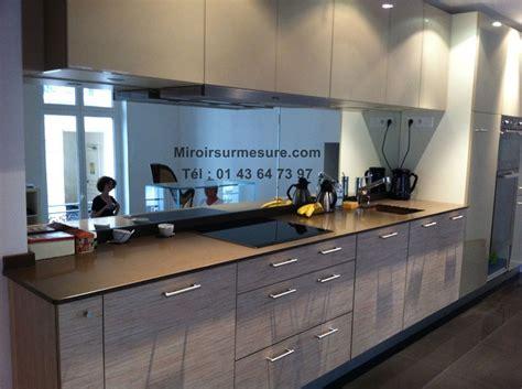 cr ence miroir pour cuisine crédence miroir sur mesure pour votre cuisine