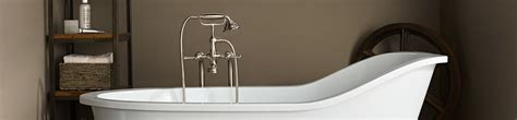 Tub Faucet  Transitional Floor Mount Tub Filler with
