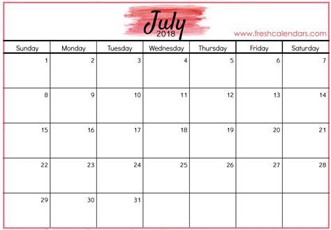 july calendar template july 2018 calendar printable template pdf holidays word excel