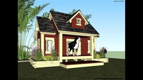 dh   build  insulated dog house dog house plans youtube