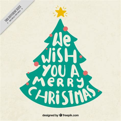 christmas tree background with message vector free download