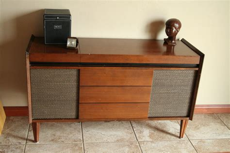 turntable cabinet mid century modern stereo deilcraft cabinet with working
