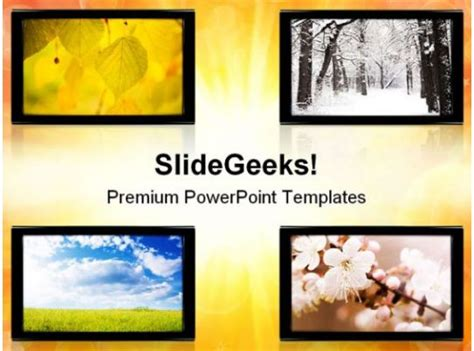 seasons nature powerpoint templates  powerpoint