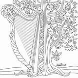Coloring Pages Music Adults Instagram Harp Adult Colouring Blank App Drawings Therapy Books Space Colortherapyapp sketch template
