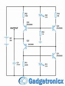 Mini Sawtooth Generator Circuit Using Transistors
