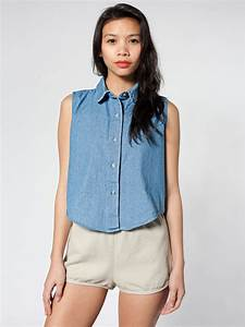 Style up this sleeveless denim shirt with a bolero necklace for a | 40 Ways to Hit the Music ...