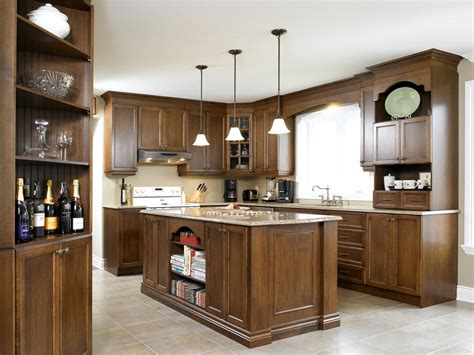 armoire de cuisine bois élégante sobriété cuisine bois érable quartz