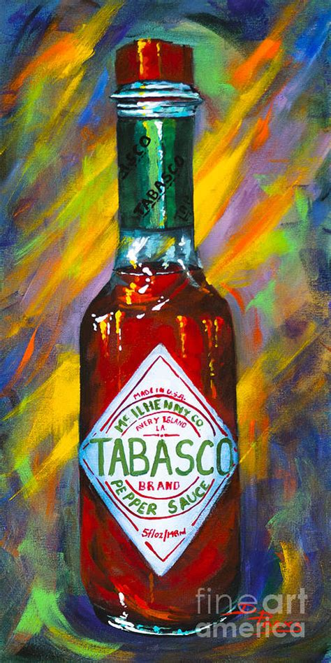 awesome sauce tabasco painting by dianne parks