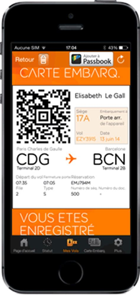 siege easyjet carte d embarquement sur mobile easyjet