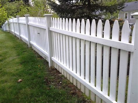 white wood picket fencing wood fence