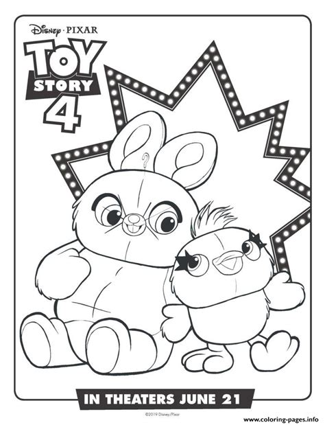 bunny  ducky toy story  coloring pages printable