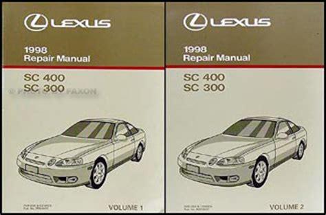 how to download repair manuals 1998 lexus sc lane departure warning 1998 lexus sc 300 400 repair shop manual original 2 volume set