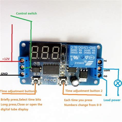 12v display led timer relay delay programmable switch board buzzer button module ebay