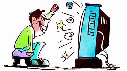 Bad Children Clipart Television Disadvantage Cartoons Negative