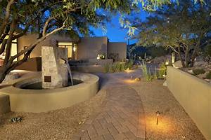 Landscape lighting ideas contemporary with brick