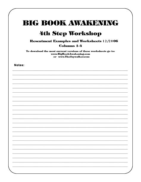 16 Best Images Of 12 Step Worksheets Printable  Narcotics Anonymous 12 Step Worksheets