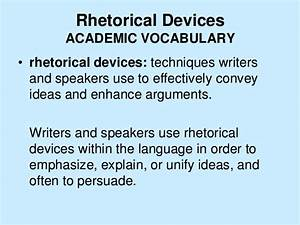 use of rhetorical devices in letter Rhetoric from a birmingham jail pathetic appeals and logical appeals using an excerpt from martin luther king jr's letter from a how they use rhetoric.
