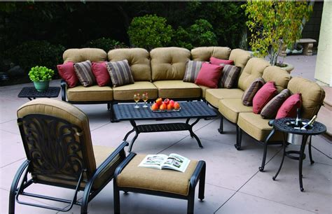 Seating Patio Furniture by Patio Furniture Seating Sectional Cast Aluminum Lisse