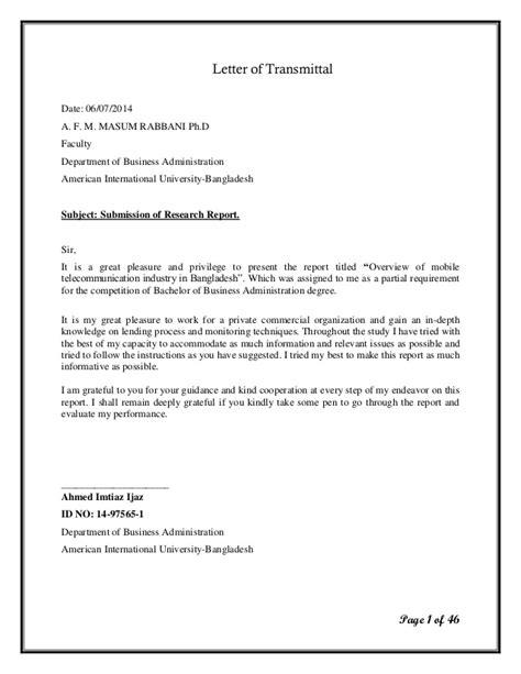 letter of transmittal exle awesome transmittal letter