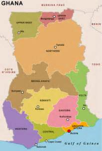 Ghana Map with Regions