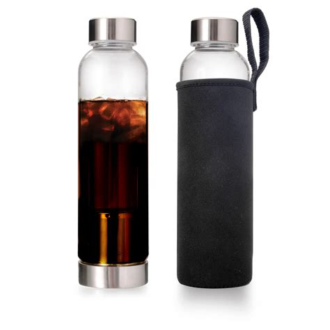 It has an airtight each set includes a brewing container with handle, a glass decanter with lid, two reusable filters, one. Cold Brew Bottle - Coffee On The Go - Primula Cold Brew
