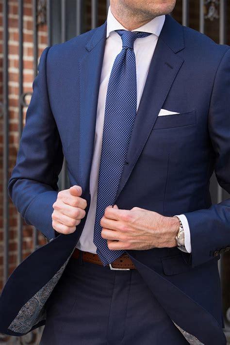 light navy blue suit royal blue suit trend spring fashion he spoke style