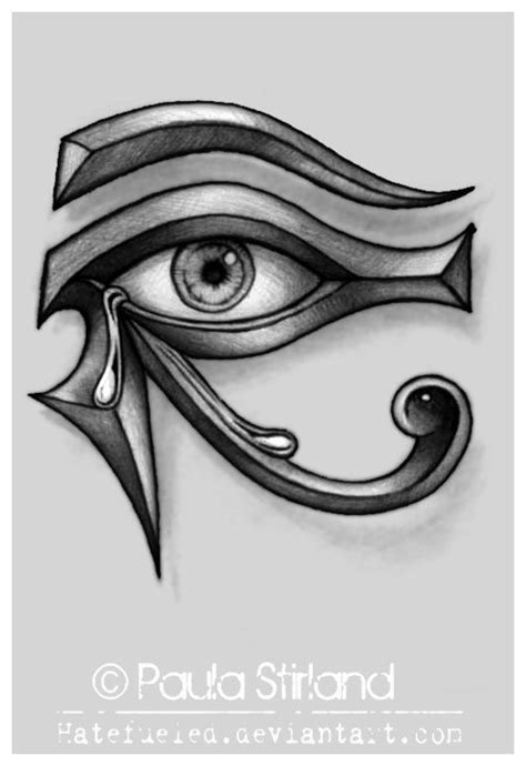 Crying Eye of Ra by hatefueled on DeviantArt | Mon Oeil !! | Tatouage égyptien, Tatouage